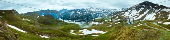Alps summer panorama.