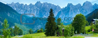 Alps summer country panorama (Austria).