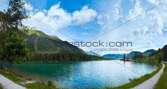 Alpine summer lake panorama