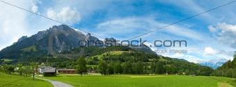 Alps summer panorama (Austria).