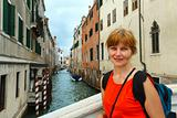 Woman tourist in Venice