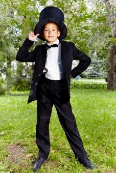 Boy in tux
