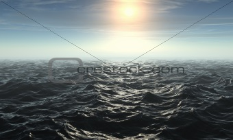 3D rendered Seascape