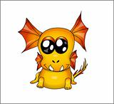Funny yellow dragon