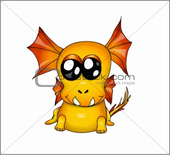 Funny yellow dragon