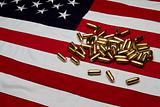 US Flag with bullets/ammunition