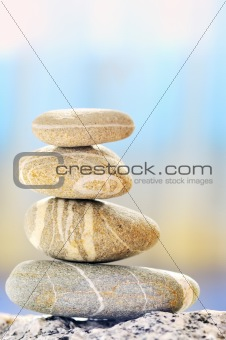 a pile of pebbles isolated