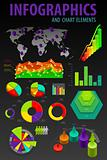 Set elements of infographics. World Map and Information Graphics.