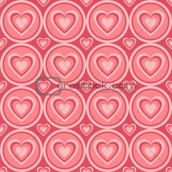 abstract hearts pattern