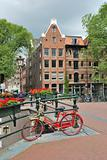Amsterdam. Bridge over  canal Brouwersgracht