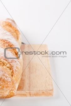 fresh baked baguette