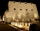 Karnak temple in Luxor at night