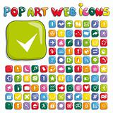 Stylized pop art web icon set