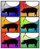 Pig in pop art