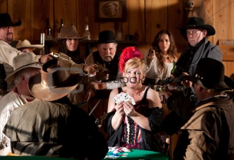 Old West Barmaid Caught Cheating