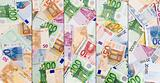 Abstract european currency background