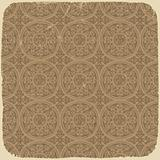 Aged vintage background with ancient seamless pattern. Vector il