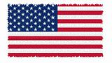 The USA nation flag in jigsaw puzzle