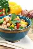 Asian chickpea salad