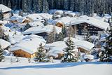 Cottages at the Austrian Alps of the Tyrol region.