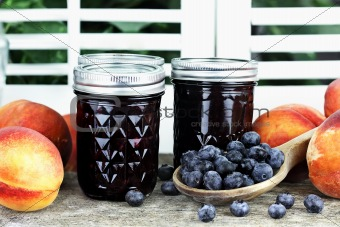 Blueberry Peach Preserves