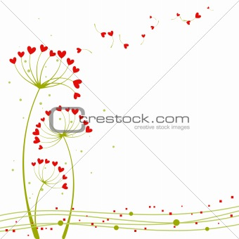 Abstract springtime love flower