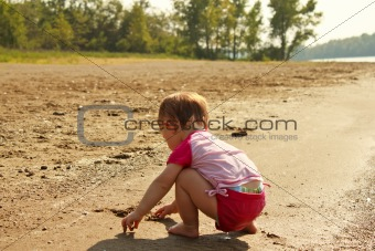 Baby Play Sand Beach