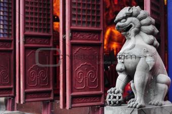 Lion Guardian sculpture