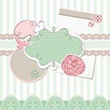 cute vector baby frame