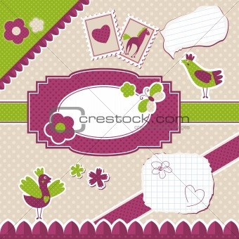 baby frame design elements