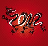 new year dragon card