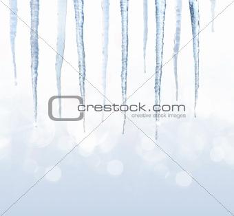 Beautiful shiny iciles