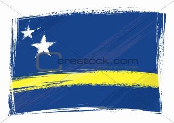 Grunge Curacao flag