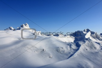 Beautiful snowdrift