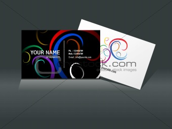 abstract busines card template