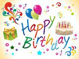 abstract colorful birthday template