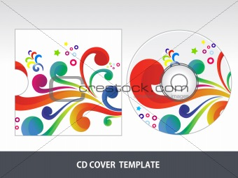 abstract colorful floral cd cover