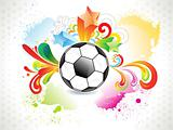 abstract colorful football grunge design