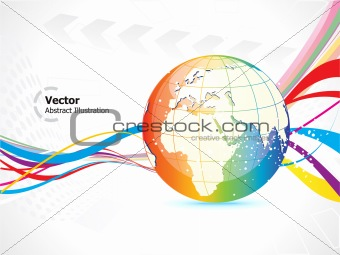 abstract colorful globe prasentation