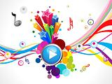 abstract colorful play music concept