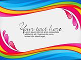 abstract colorful rainbow color splash border