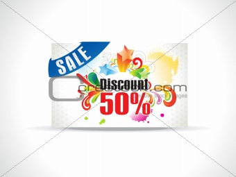 abstract discount coupon