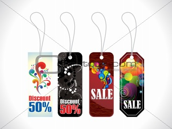 abstract multiple celebration sale tag
