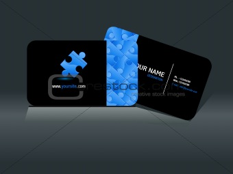abstract puzzle business card template