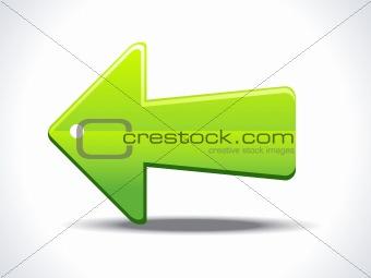 abstract shiny arrow icon