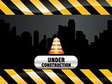 abnstract shiny construction background