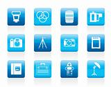 Photography equipment icons