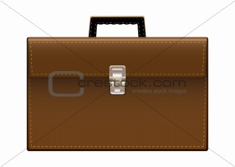 Brief case brown leather