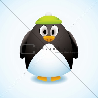 Cartoon penguin hat