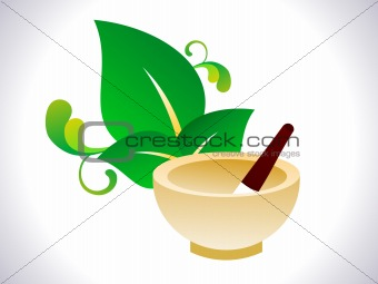 abstract herbal ayurvedic element